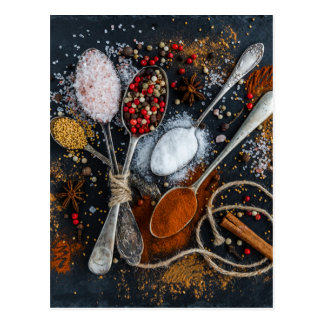 Silver Spoons & Spices Postcard