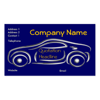 Silver Sport Car Business Cards with 2012 Calender