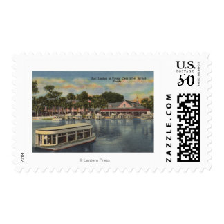 Silver Springs, FL - Waterfront View of Boat Postage