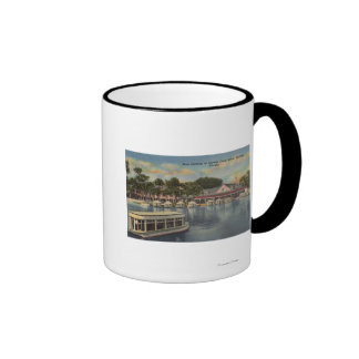 Silver Springs, FL - Waterfront View of Boat Ringer Coffee Mug