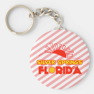 Silver Springs, Florida Basic Round Button Keychain