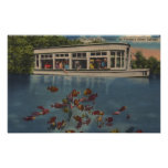 Silver Springs, Florida - View of Riverboat & Poster
