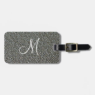 Silver Sprinkles Monogram Tags For Bags