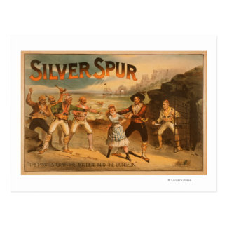 Silver SpurPirates Theatrical Poster Postcard