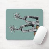 Silver spurs mouse pad