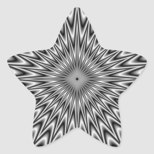 Silver Square Stick Star Sticker