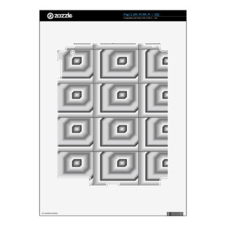Silver Squares Skins For The iPad 2