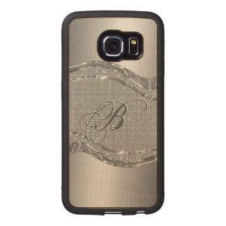 Silver Stainless Steel & Diamonds Pattern Print 2 Wood Phone Case