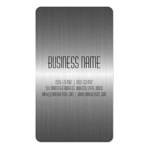 Silver Stainless Steel Metal Business Cards (back side)