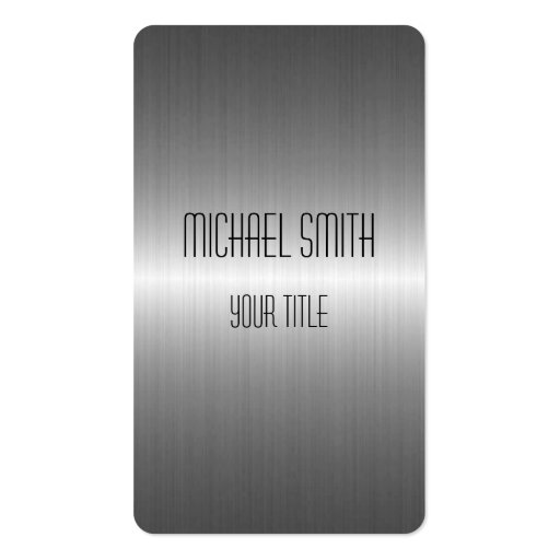 Silver Stainless Steel Metal Business Cards (front side)