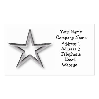 Silver Star Business Card