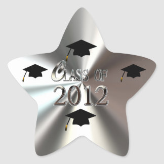 Silver Star Class Of 2012 Graduation Star Stickers