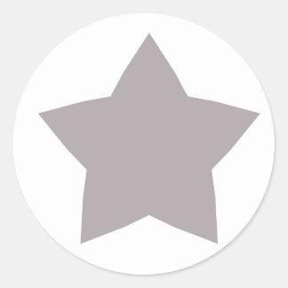 Silver Star Classic Round Sticker
