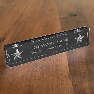 Silver Star Company Executive Desk Name Plate
