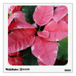 Silver Star Marble Poinsettias Pink Holiday Floral Wall Sticker