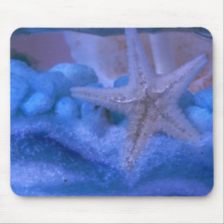 Silver star mouse pad