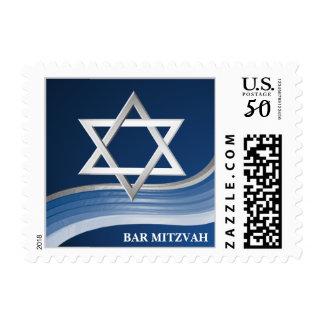 Silver Star of David Bar Mitzvah Postage