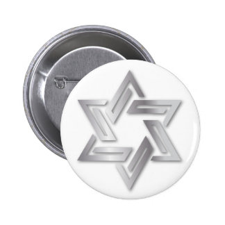 Silver Star of David Button