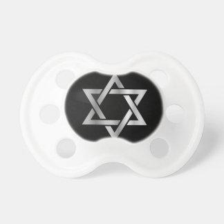 Silver Star of David- Jewish Pacifier