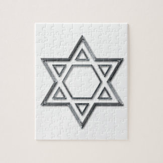 Silver Star Of David Jigsaw Puzzle