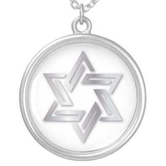 Silver Star of David Necklace necklace
