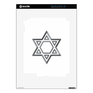 Silver Star Of David Skin For The iPad 2