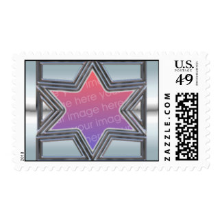 Silver Star of David Stamp