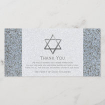 Silver Star of David Stone 3 Sympathy Thank You