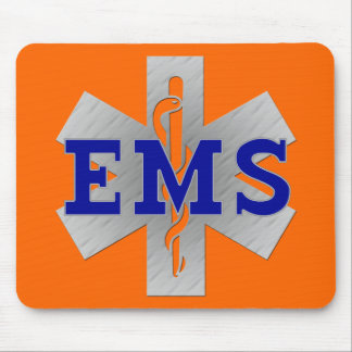 Silver Star of Life with Blue EMS Mouse Pad