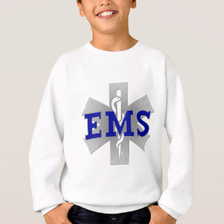 Silver Star of Life with Blue EMS Sweatshirt