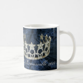 Silver Star Pageant Crown Personalized Name Mug