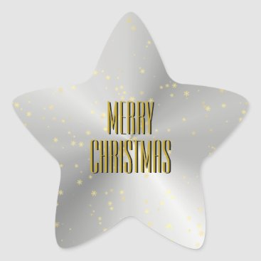 Christmas Themed Silver Star Shaped Christmas Envelope Seal
