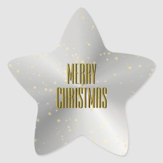 Silver Star Shaped Christmas Envelope Seal Star Sticker