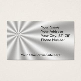 Silver Starburst Business Cards