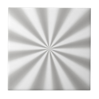 Silver Starburst Ceramic Tile