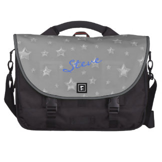 Silver Starry Laptop Bag Template