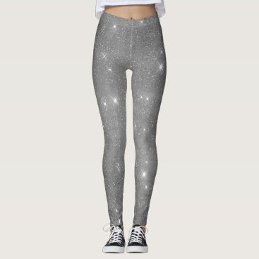 Halloween Themed Silver Starry Night Leggings