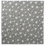 silver stars cloth napkin