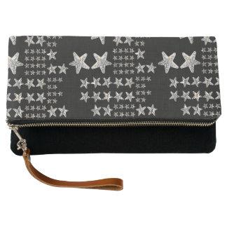 Silver Stars Clutch Bag