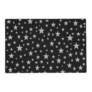 Silver Stars Laminated Placemat