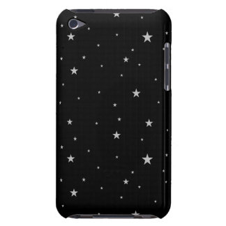 Silver Stars On Black iPod Case-Mate Case