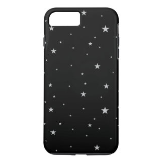 Silver Stars On Black iPhone 7 Plus Case