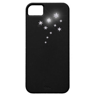 Silver Stars on Black iPhone SE/5/5s Case