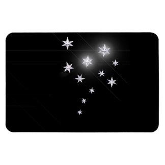 Silver Stars on Black Magnet