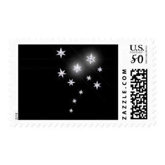 Silver Stars on Black Postage