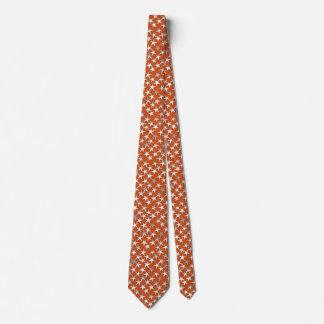 Silver stars on copper tie