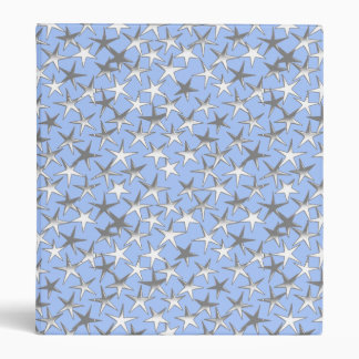 Silver stars, on pale blue 3 ring binder