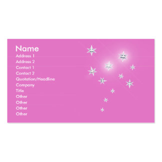 Silver Stars on Pink - Business Business Card