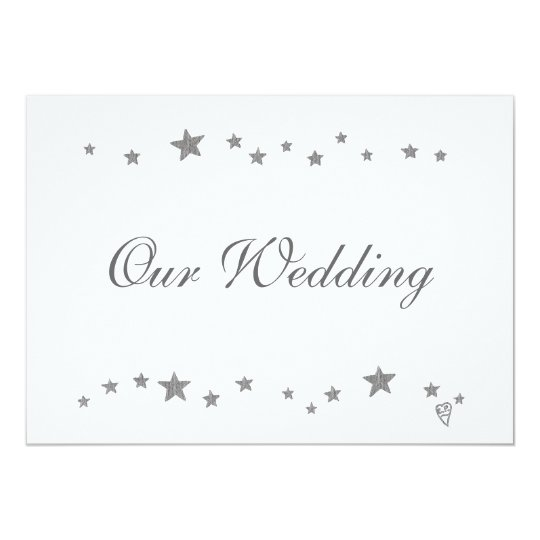 Silver Stars, Our Wedding, Invitations, Custom Card
