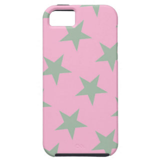 Silver Stars Pink iPhone Case